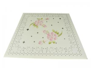 China Hotel Plastic Suspended Ceiling Tiles Vivid Flower Pattern Corrode Resistant on sale