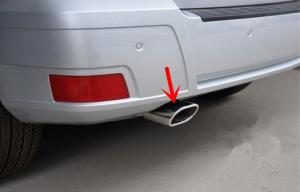 China Stainless Steel Automobile Spare Parts Exhaust Pipe Cover for Benz GLK 2008 2012 on sale