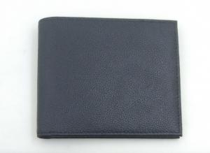 China Texture Smooth Leather Wallet , Mens Leather Bifold Wallet Printed Logo on sale