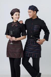 China Western Pastry Restaurant Wait Staff Uniforms Waiter And Waitress Uniform For Restaurant on sale