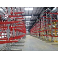 Customized Depth Cantilever Lumber Storage Racks , Cantilever Steel Rack For Wooden Plant