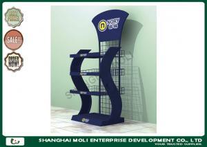 China Eco - friendly metal retail display racks floor standing display units for snack food on sale