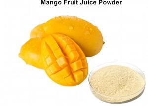 China Light Yellow Organic Mango Juice Powder , Food Grade Raw Mango Drink Powder Nutrition on sale