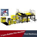 HDPE LDPE LLDPE 5 Layers Bubble Wrap Making Machine 38CRMOLA Screw Material , Polyethylene Bubble Film