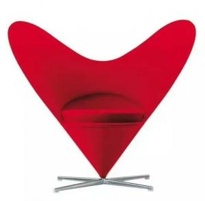 China Sweety Shaped Modern Furniture Chairs , Colorful Heart Cone Contemporary Swivel Chair on sale