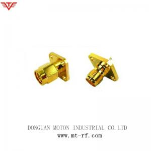 China 4 holes sma eia flange rf connector for 7/8 cable on sale