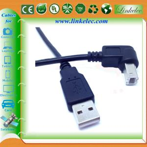 China braided usb cable 90 degree angle direction USB on sale
