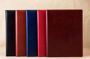 China High End Personalized Leather Padfolio / Leather Portfolio Binder 5 Color Available on sale