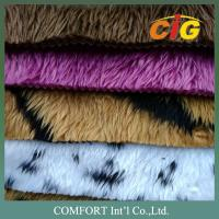 Anti - Static Colorful Auto Upholstery Fabric 100% Polyester Fake Fur For Seat Cover
