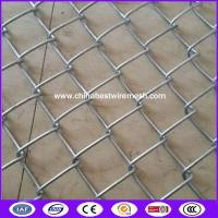China ASTM A392 standard hot galvanized Chain link fencing 50X50mm with CE certificate for dog kennels on sale
