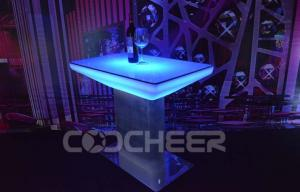 China Metal Legs Rechargeable Led Bar Table Bar Furniture With DMX / IR Controller on sale