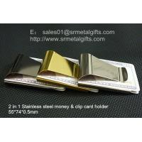 China China metal money clip factory for wholesale custom steel money clips, on sale
