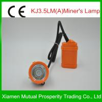 Portable, rechargeable KJ3.5LM led miners cap lamp