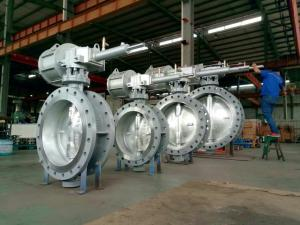 Quality WCB Double Eccentric Butterfly Valve Actuator DN1200 High Performance for sale