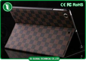 China Durable Brown iPad Air Leather Case Tablet Protective Cases with Stand on sale