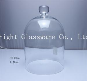 China Custom Round Glass Dome Plate Set for Cake Stand for Sale on sale