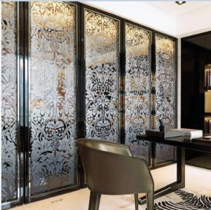 China Folding Home Decorative Stained Glass Interior Doors For Wardrobe Glass Door on sale
