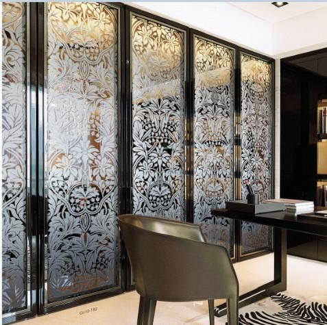 Folding Home Decorative Stained Glass Interior Doors For Wardrobe
