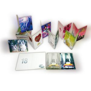 China Fashion creative Plastic 3D greeting cards for promotional gifts on sale