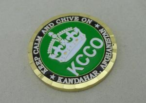 2 0 Inch KCCO custom military coins By Brass Die Struck And Gold
