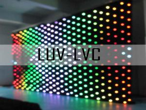 China LUV-LVC406 P9 P20 4mx6m Stage Background Dream Color Flexible LED Video Curtain on sale