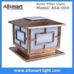 Square Aluminum Solar Pillar Lights Bronze Lampshade Solar Brick Column Post Lamp Solar Welcome Lighting China Factory