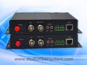 China 2CH multifunctional SDI fiber optical converter for 2CH SDI&Bidirectional audio&Ethernet&RS232/485/422 over fiber on sale