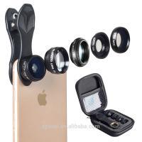 Detachable Mobile Phone Camera Lens 5 In 1 Optics Fixed Focus Lens Kit