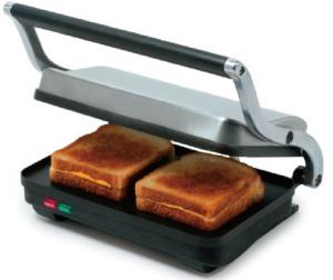 China SS Electric 2 Slice Panini Grill Sandwich Maker Flat Plate For Faster Cooking supplier