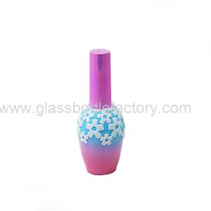 China 17ml New Item Elegent Glass Nail Polish Bottles With Cap and Brush on sale