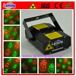 China 100mW RG 8Gobos Mini Twinkling cheap mini home Party Laser show system on sale