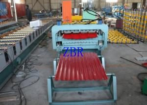 China Trapezoidal Wall Panel Roll Forming Machine Horizontal Roller Manual Screw Tensioning on sale