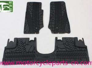 China Rubber Car Floor Mats Auto Parts Accessories For Jeep Wrangler JK 2007-2014 4*4 on sale