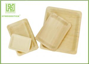 China Customized Printed Disposable Wooden Plates Wooden Serving Trays For Hotel on sale