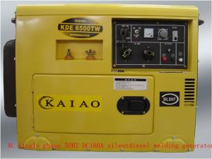China 160A - 180A Super Quiet Small Diesel Generators 2KW Electric Start / Hand Start System on sale