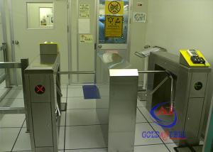 China Tripod arms alarm function turn style door biometric IC card fingerprint on sale