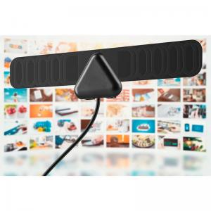 China 25 Mile Electronic TV Antenna , Mini Flat Portable Digital Antenna HD 30dBi Gain on sale