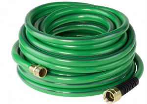 China Portable Garden PVC Hose Non Toxic With Copper Brass Joint / Metal Fittings on sale