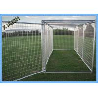 China 11 Gauge Galvanised Weld Mesh Panels Painted Outdoor Dog Kennel 10X10X6 Foot on sale