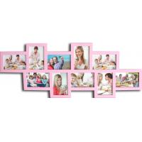 hot sale 10 opening photo frame wood photo frame wholesale multi photo picture frame