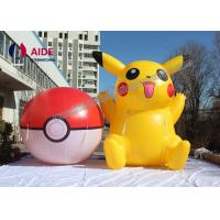 OEM Lovely Yellow Cartoon Blow Up Model Inflatable Pikachu For Decoration
