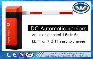 China Automatic Boom Barrier With Rfid Car Park Boom Gates DC Battery on sale