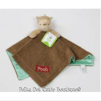 NWT Disney Classic Kids Plush Dolls Winnie The Pooh Brown Plush Security Blanket