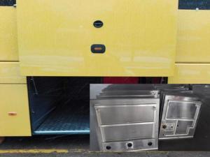 China Aluminum / Steel Panel Bus Luggage Door?, Manual / Pneuamtic Bus Door Mechanism on sale