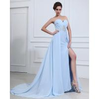 Light Blue Sexy summer long Party Dresses for Women , aline prom dresses