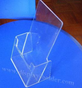 China Tabletop File Holder Clear Acrylic Brochure Holder on sale