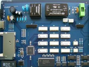 China Gree FR4 Peelable Mask PCB Board Printing IPC-610 Pads Blue Mask MLB Circuit Board on sale