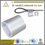 鋼線ロープのための DIN3093 アルミニウム楕円形の袖