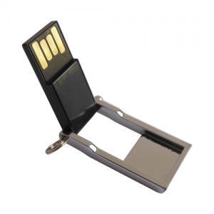 China Retournez le mini bâton de mémoire instantanée d'USB de puce imperméable, gravant la commande d'USB en métal de logo on sale
