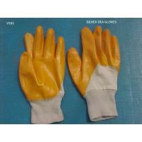 Interlock Lining Orange Latex Coated Glove For Western Safety